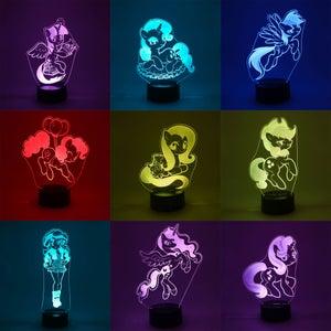 Image of LED lit acrylics
