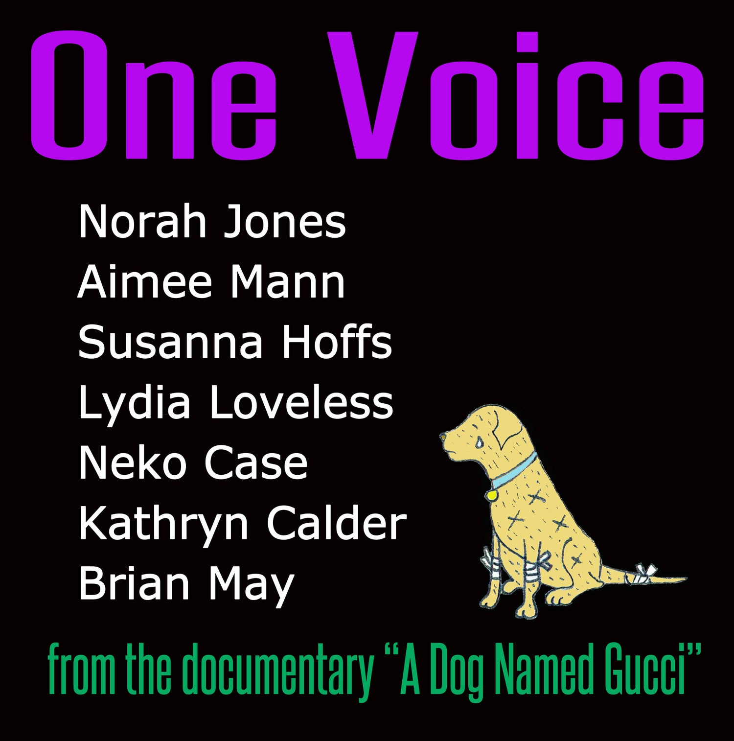 """Image of One Voice 12"""" vinyl EP from the movie A Dog Named Gucci"""