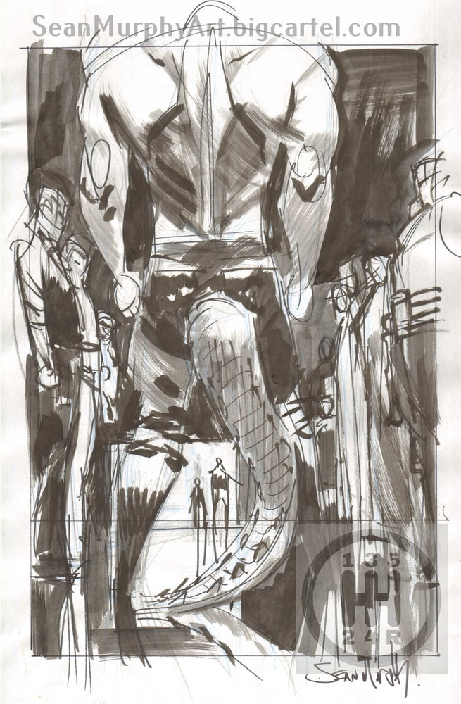 Image of Batman: White Knight #3, Page 24 villain splash prelim
