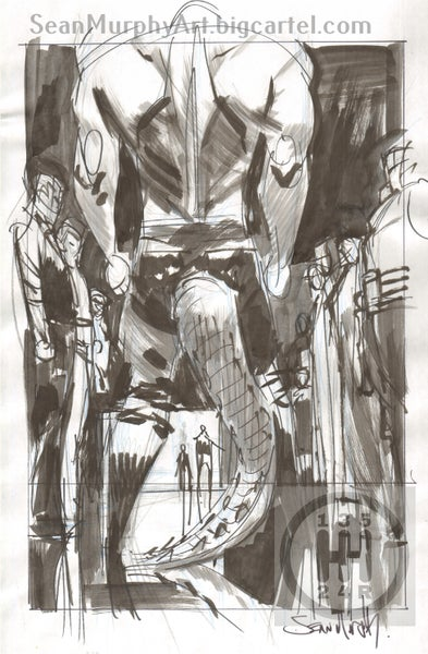 Image of Batman: White Knight #3, Page 24 villain splash prelim