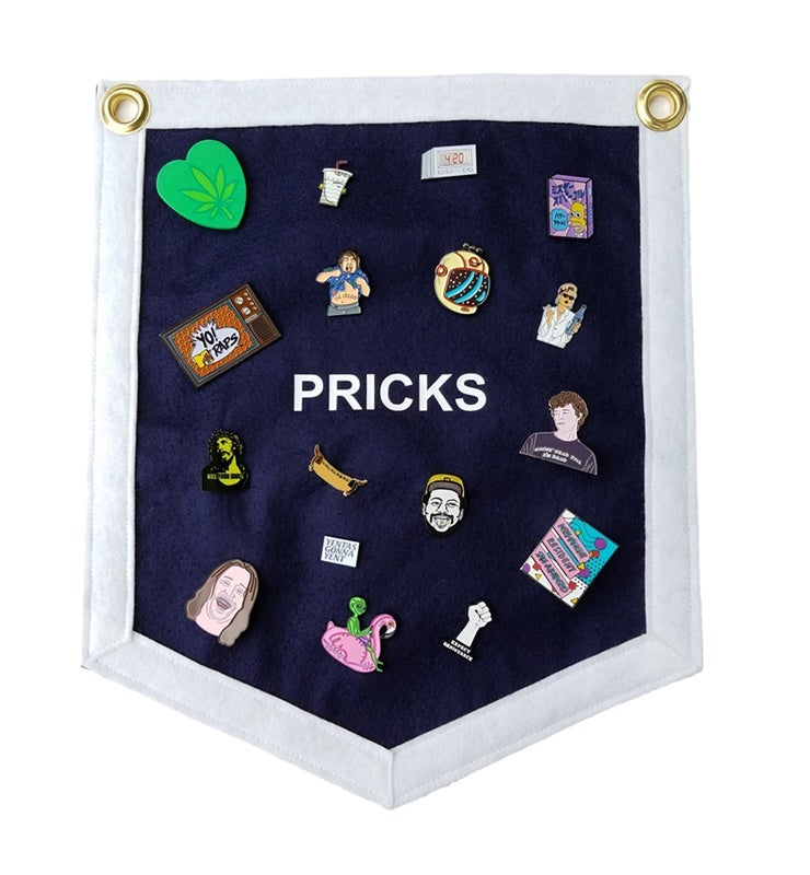 Image of Pricks Pin Banner (Navy/White)