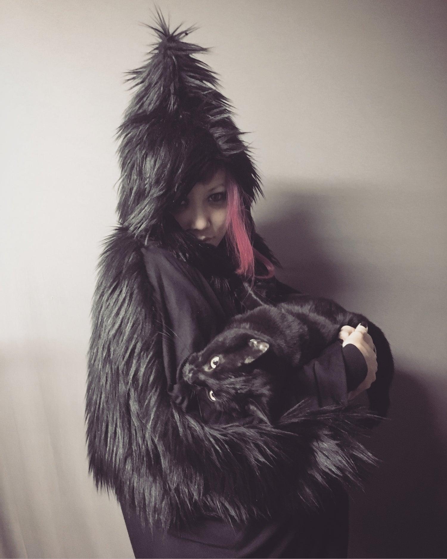 Image of Furry Pointy Hood Tunic
