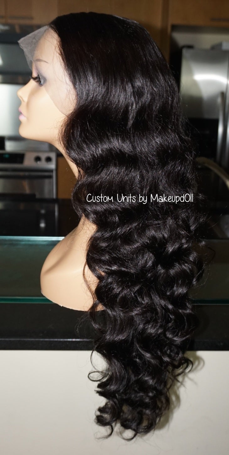 "Image of Brazilian Body Wave 26"" Custom Lace Frontal Wig!"