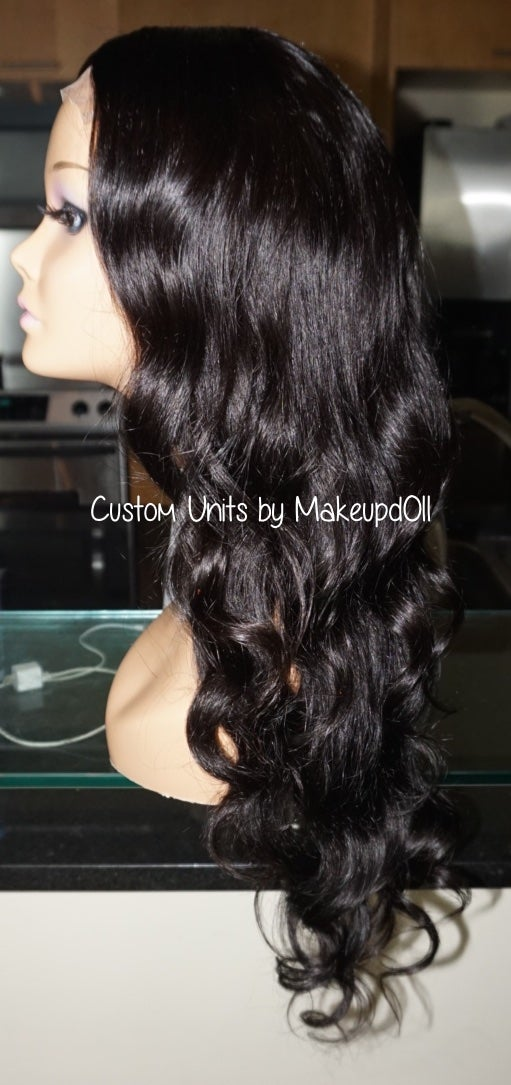 """Image of Indian Natural Wave 22"""" Custom Lace Closure Wig!"""