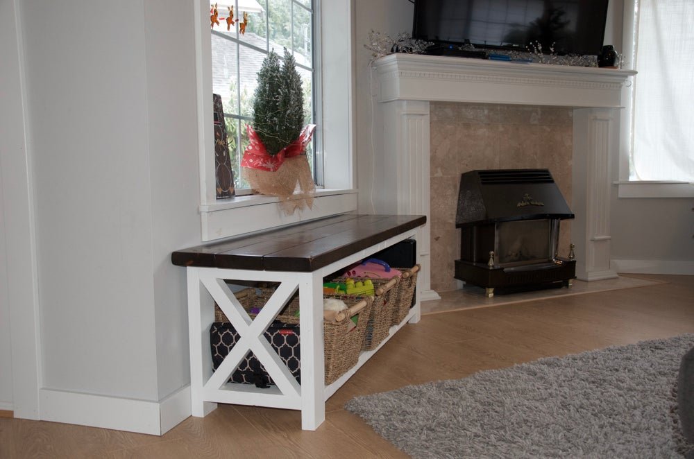 Image of Rustic Farmhouse Bench