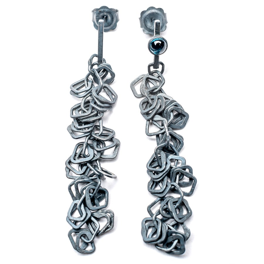 Image of Indian Summer Earring Series 2 Oxidised Silver