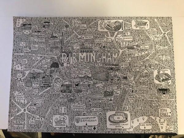 Image of Birmingham Doodle Map