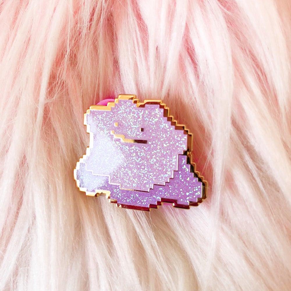 Image of Glitter Ditto Enamel Badge
