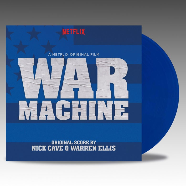 Image of War Machine (Original Score) 2 x LP 'Blue Vinyl' - Nick Cave And Warren Ellis