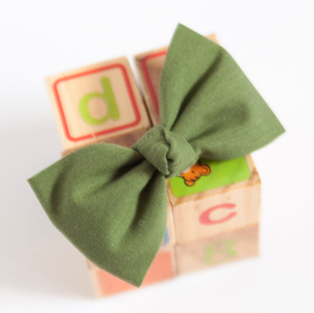 Image of Olive Green Ballet Bow