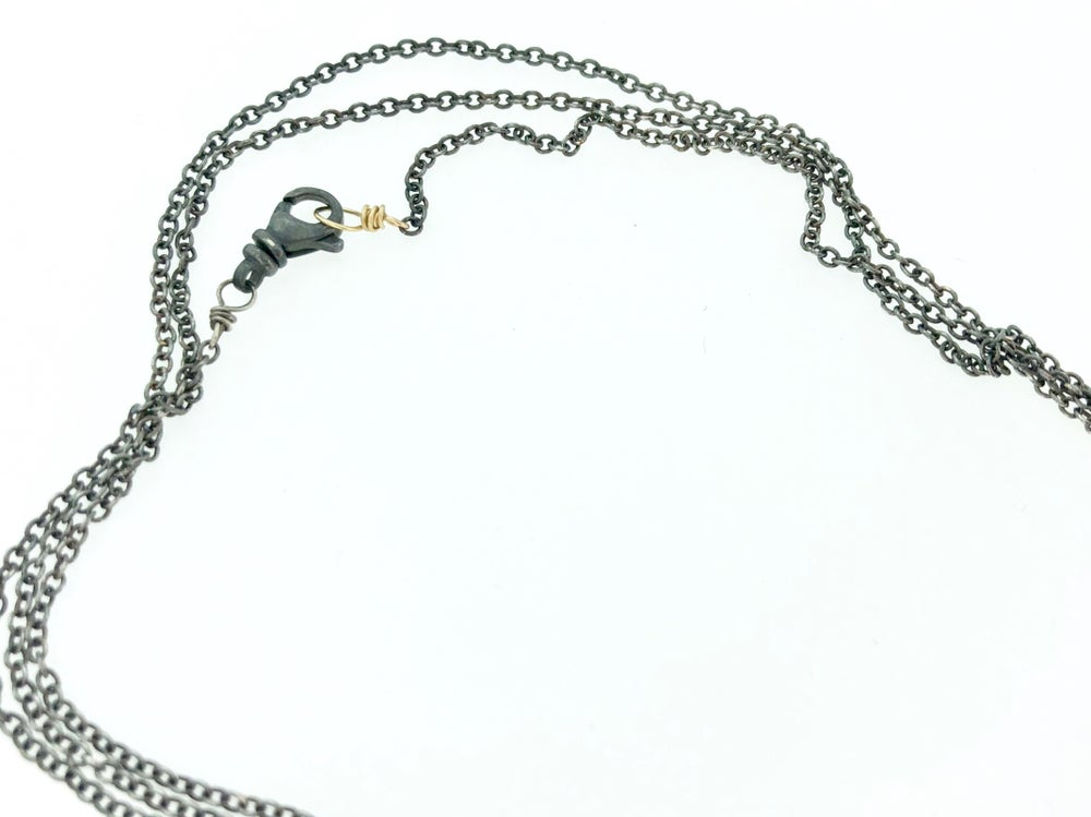 Image of Crescent moon necklace with Rumi quote