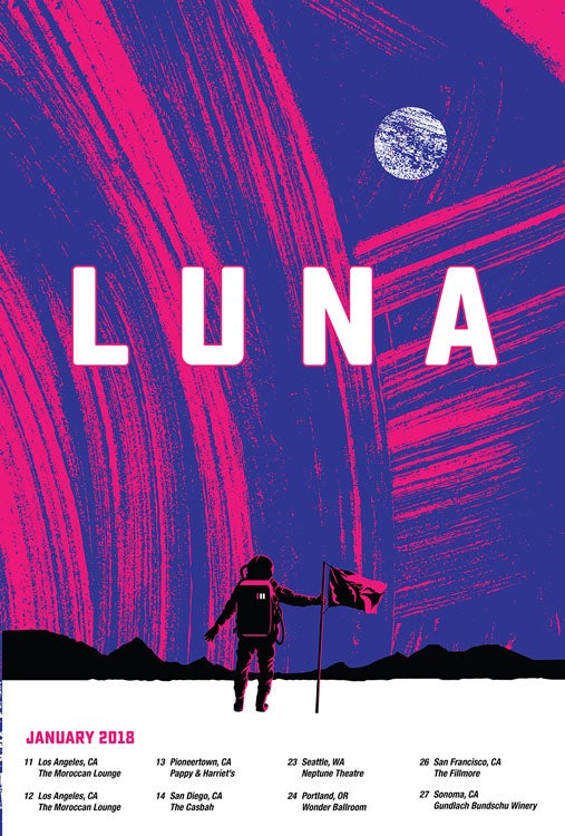 Image of Luna 2018 Tour Poster - Coming Soon!