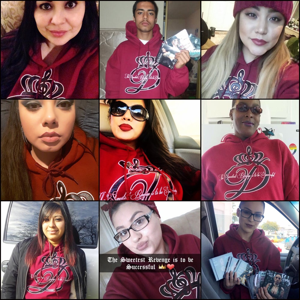 """Image of Extras from Pre-ordered BURGUNDY """"Sweetest Revenge"""" Hoodies (Ships in early Feb.)"""