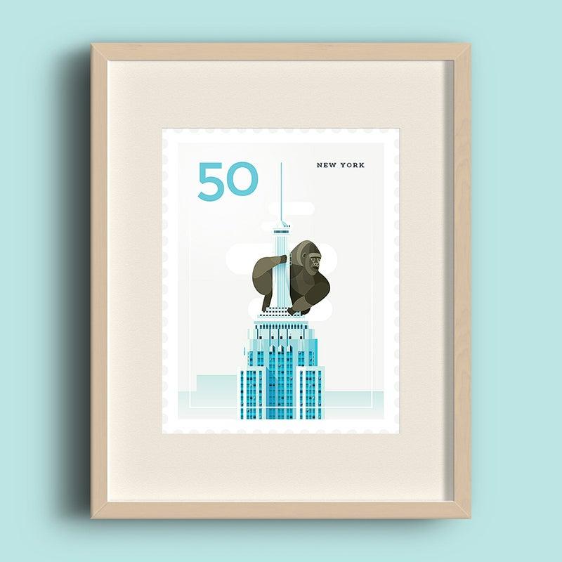 Image of Art Print – Stamp / New York