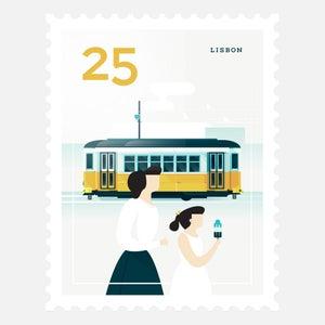 Image of Mini Art Print – Stamp / Lisbon