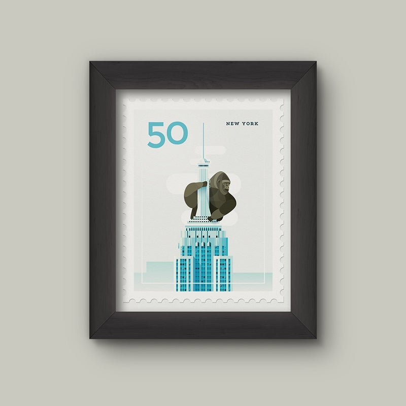 Image of Mini Art Print – Stamp / New York