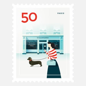 Image of Mini Art Print – Stamp / Paris