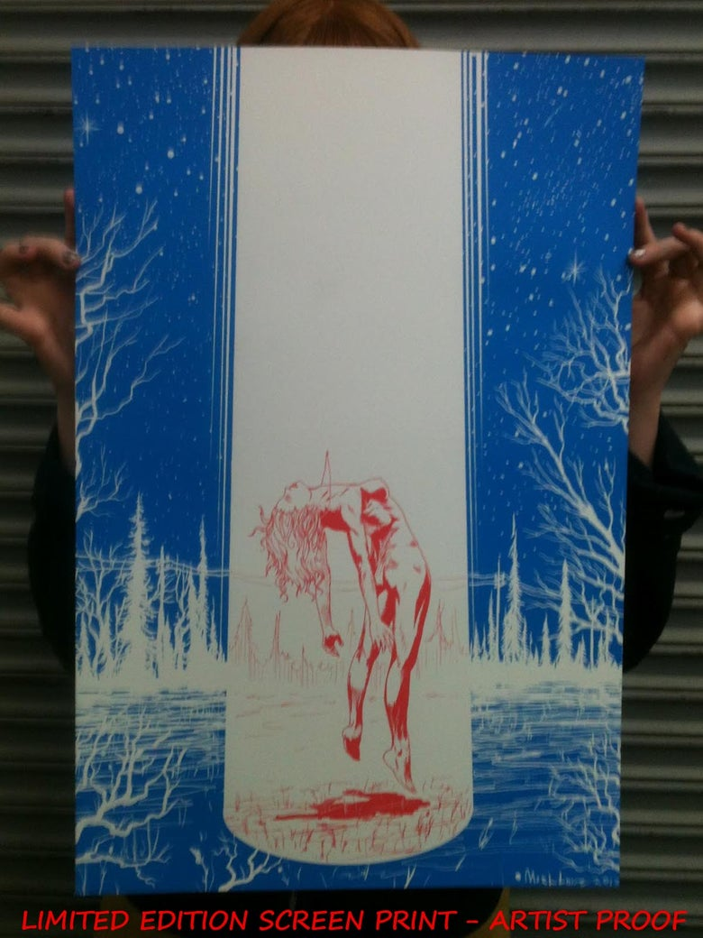 Image of Lightbeam 16 x 24 artist proof screenprint edition