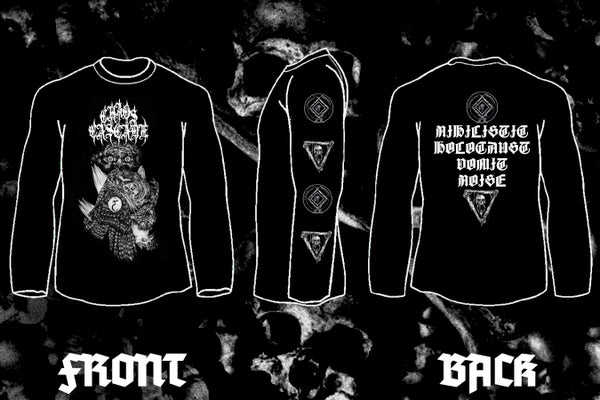 "Image of CHAOS CASCADE "" Ill-Omened Qayinitic Predation"" double sided long sleeve t-shirt"