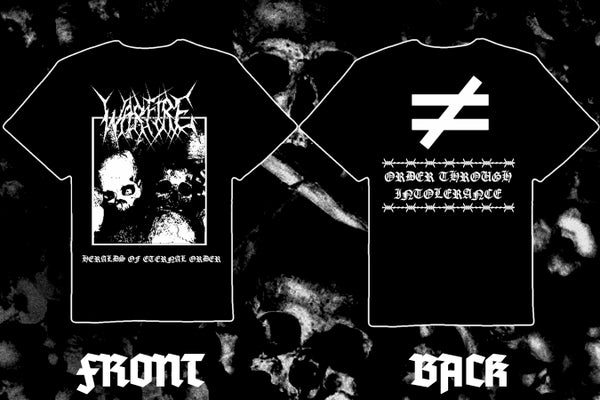 """Image of WARFIRE """" Heralds of Eternal Order"""" double sided short sleeve t-shirt"""