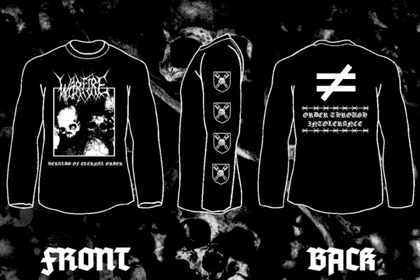 """Image of WARFIRE """" Heralds of Eternal Order"""" double sided long sleeve t-shirt"""