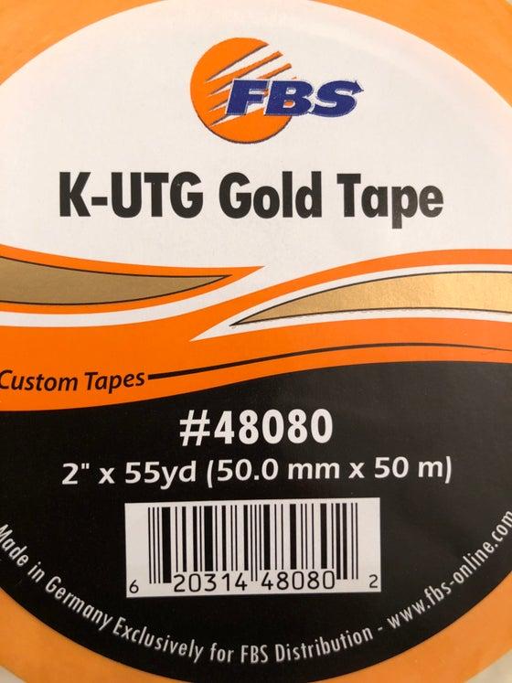 """Image of K-UTG GOLD TAPE 2""""  PRECISION MASKING TAPE"""