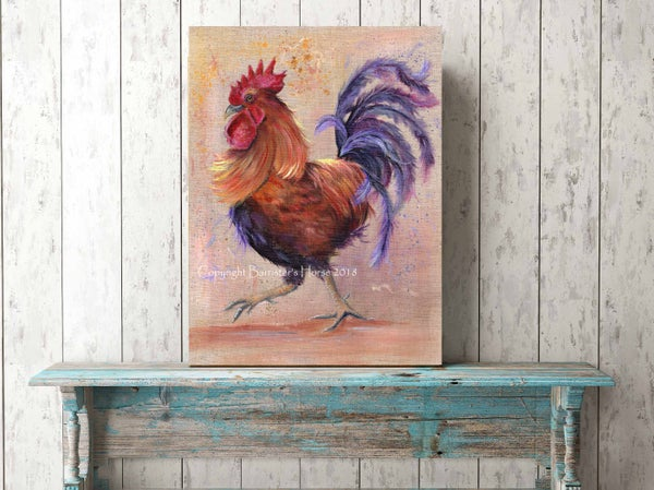 Image of CORNELIUS THE COCKEREL, FINE ART PRINTS