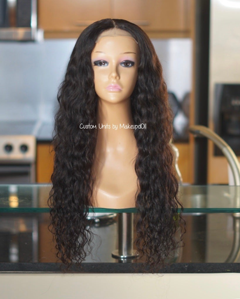 "Image of Cambodian Natural Wave 24"" Lace Closure Wig!"