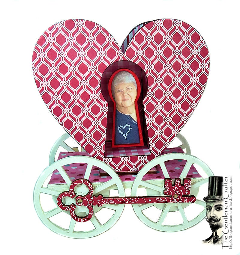 Image of Key To My Heart Carriage with Paper
