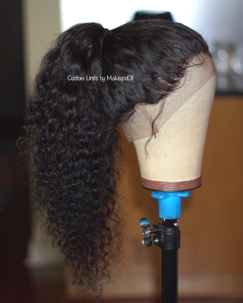 """Image of Indian Wavy/Curly 22"""" Custom 360 Lace Frontal Wig!"""