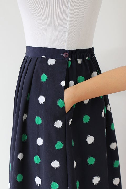 Image of SOLD Blurred Dots Skirt