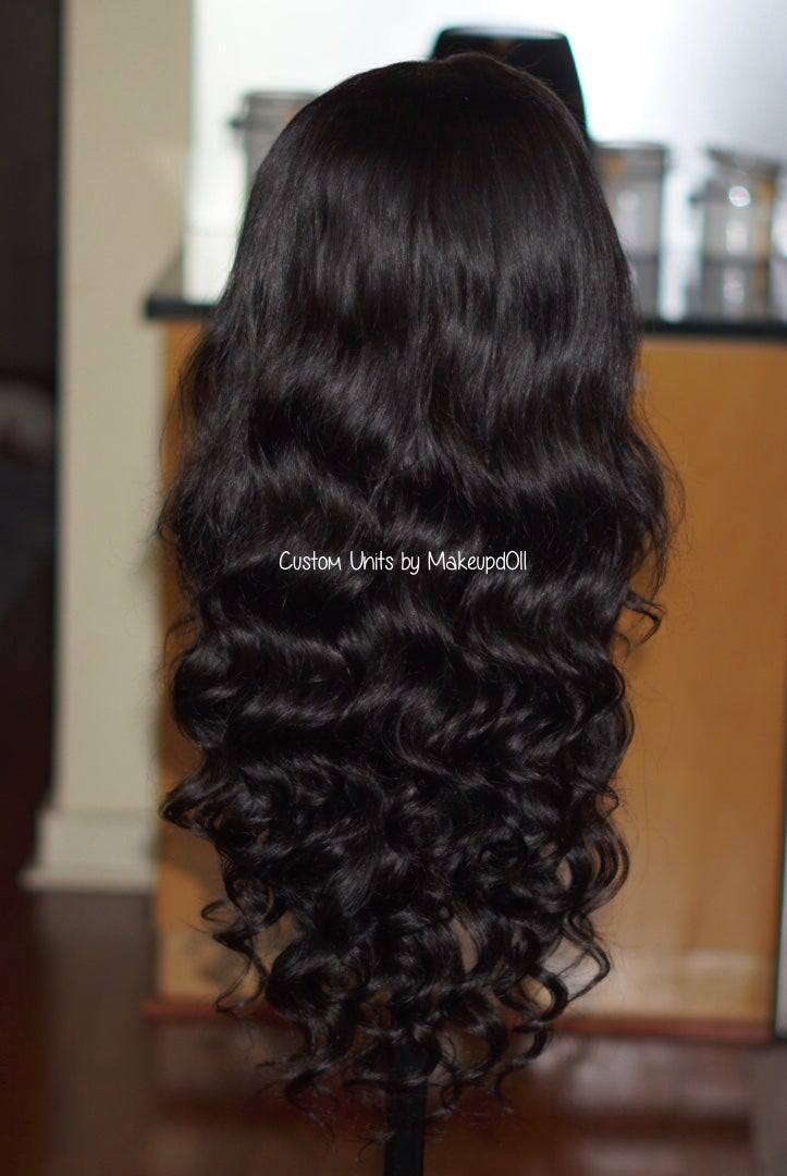 "Image of Indian Natural Waves 26"" Custom Frontal Wig!"