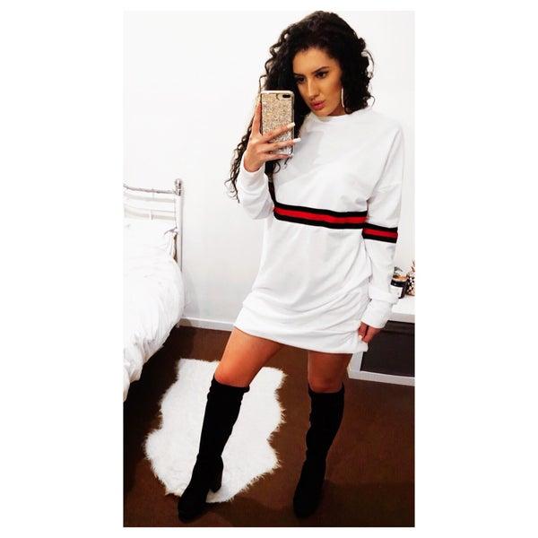 Image of ''Daria'' Stripe Jumper Dress