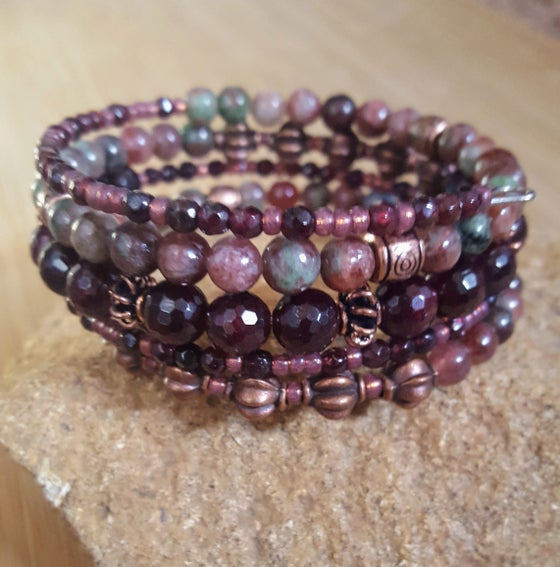 Image of Garnet Stacking Wrap Bracelet