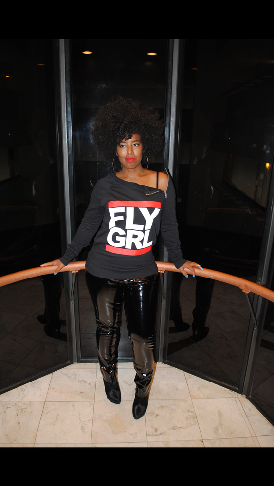 Image of FLY GRL Zippered Style Crewneck Sweatshirt