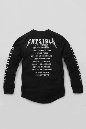 Image of Long Sleeve Band T-Shirt in Black