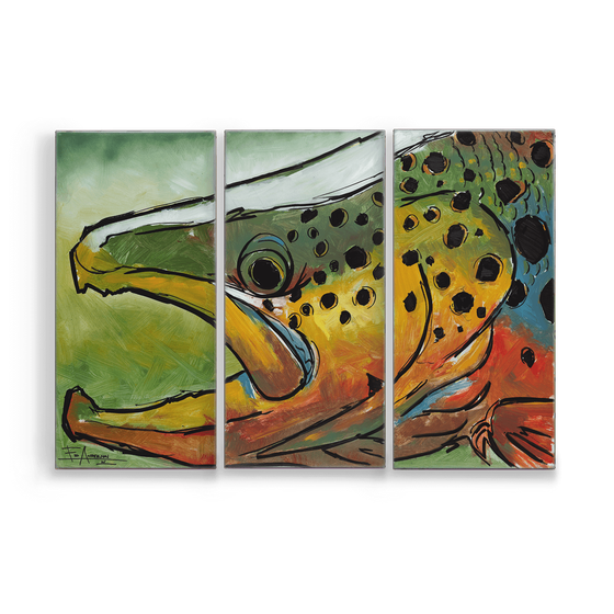 Image of Colored Brown Metal Box Triptych