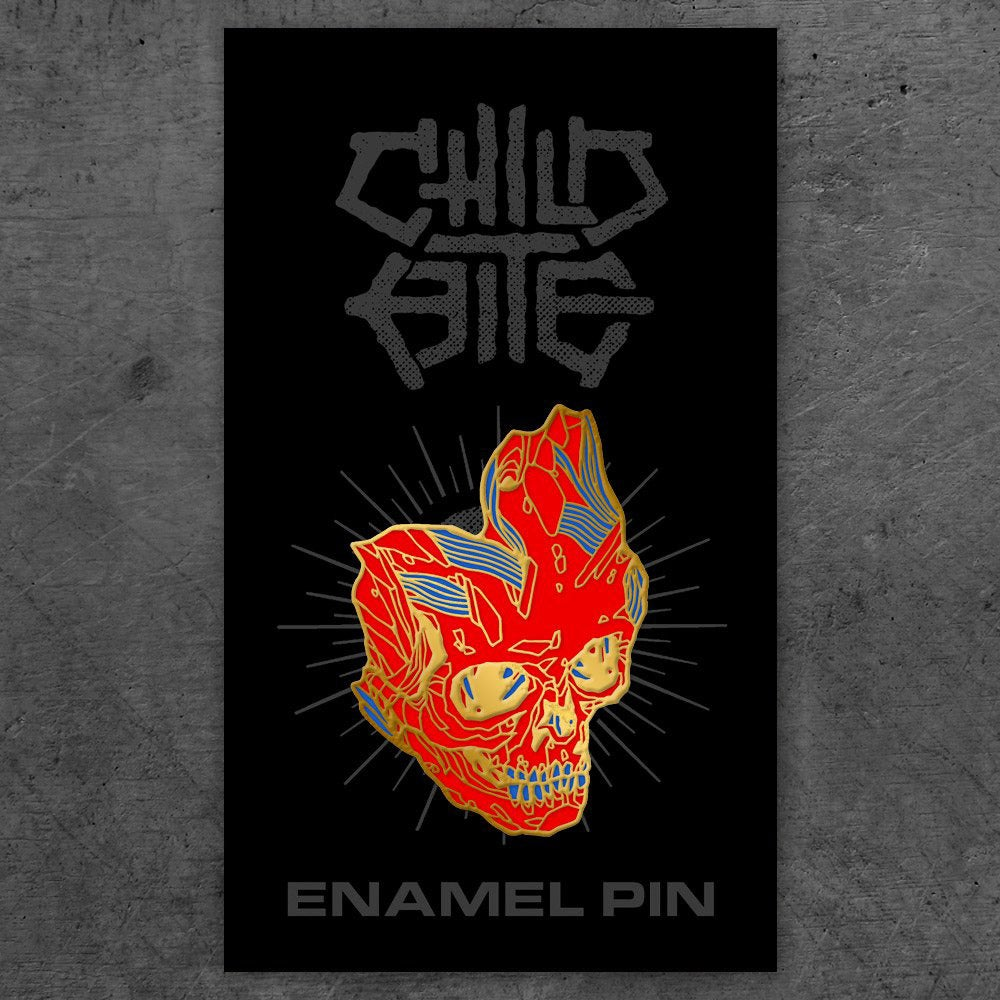 Image of CB Enamel Pin - Negative Noise Skull