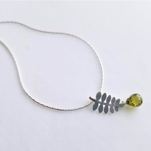 Image of Tiny Fern Necklace - Silver