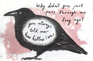 Image of I wonder if birds could make you understand - lithographic zine