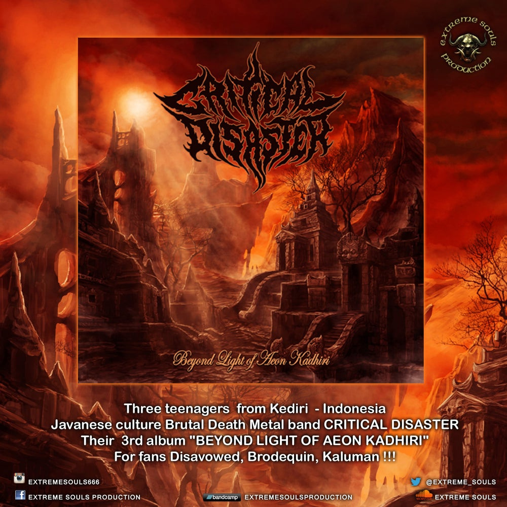 "Image of CRITICAL DISASTER  ""BEYOND LIGHT OF AEON KADHIRI"" CD"