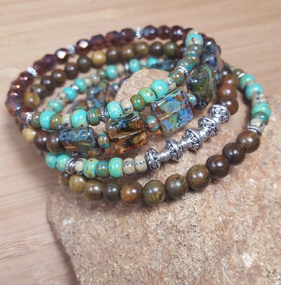 Image of Boho Style Stacking Wrap Bracelet