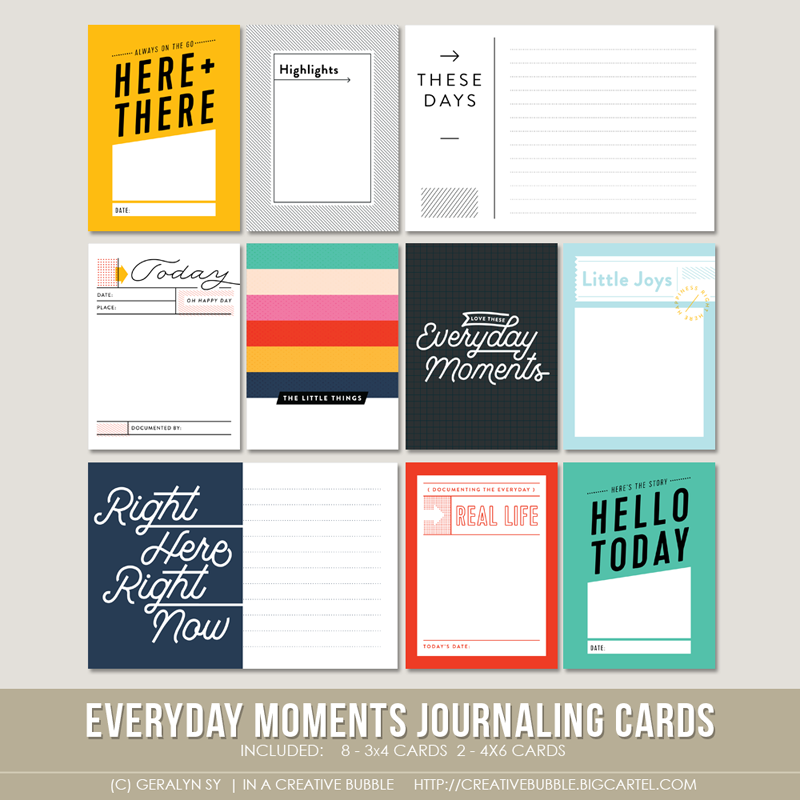 Image of Everyday Moments Journaling Cards (Digital)