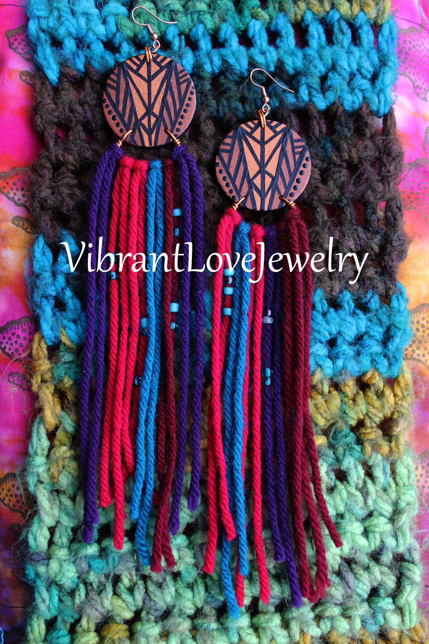 Image of Brown Suga Rainbow Earrings!
