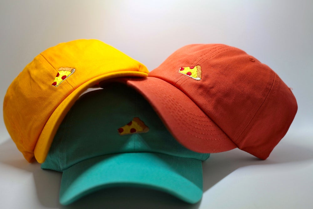 Image of 2 bite slice 5 panel cap