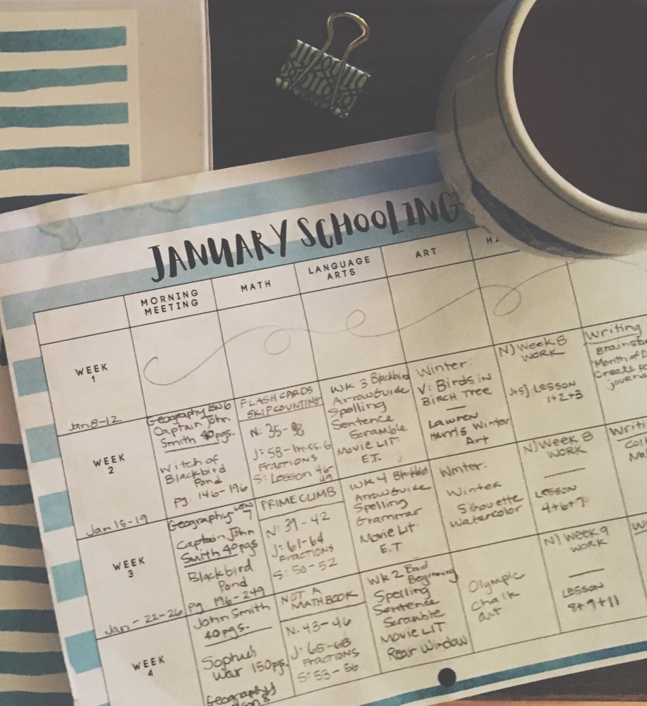 Image of Monthly School Planning Pages