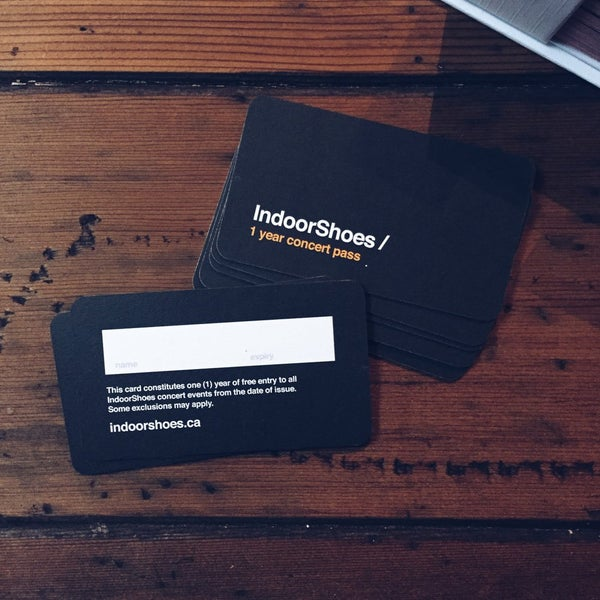 Image of IndoorShoes 1-Year Concert Pass