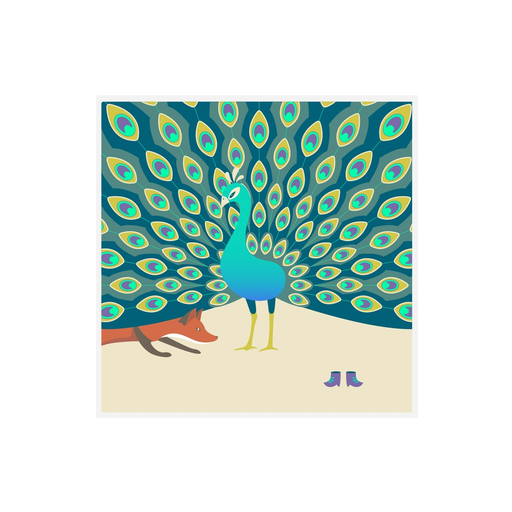 Image of The Fox & The Peacock Greetings Card