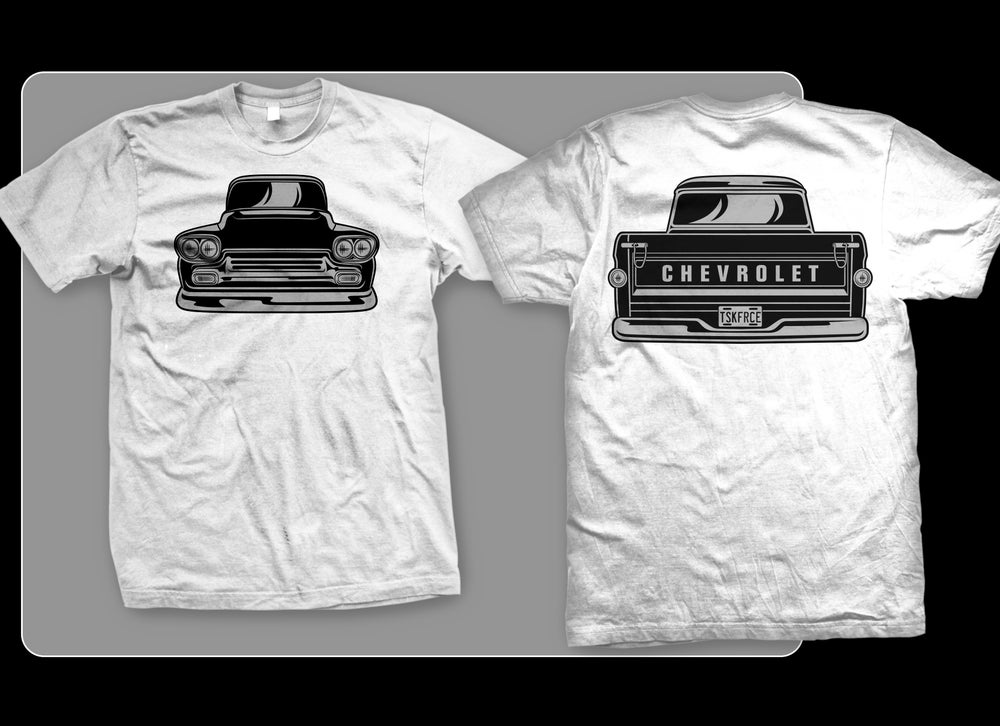 Image of 58-59 Apache Front & Rear T-shirt (WHITE)