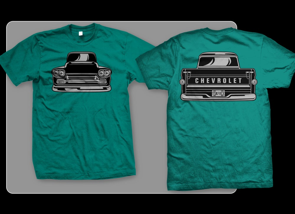 Image of 58-59 Apache Front & Rear T-shirt (TEAL)